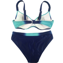 Push up Patchwork Retro Plus Size Swimwear
