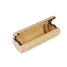 2016 Unisex brand UV RAYS bamboo oval natural eco-fashion glasses case men and women sunglasses box wooden eyewear case bags