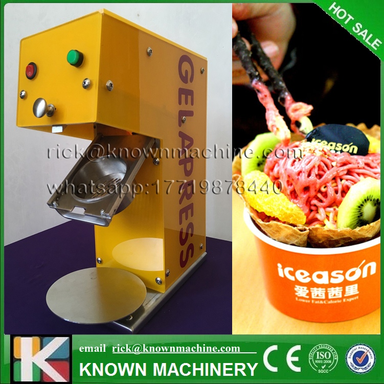 The hot sale 250W gelato maker italian noodle ice cream machine used for shops,resturant,schools with free shipping