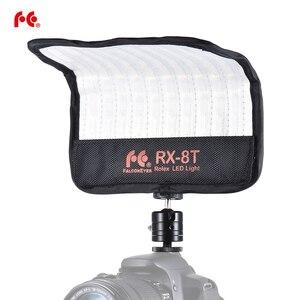 Image 1 - FalconEyes RX 8T 16 W Mini LED lampa wideo 5600 K CRI94 elastyczne tkaniny i staje W sytuacji sam na sam kamery lampa światła dziennego Splash proof dla Studio fotografii