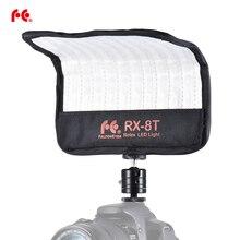 مصباح فيديو LED صغير 16 واط من falconeye RX 8T 5600K CRI94 مرن من القماش على الكاميرا مصباح ضوء النهار مضاد للدفقة للتصوير بالاستوديو