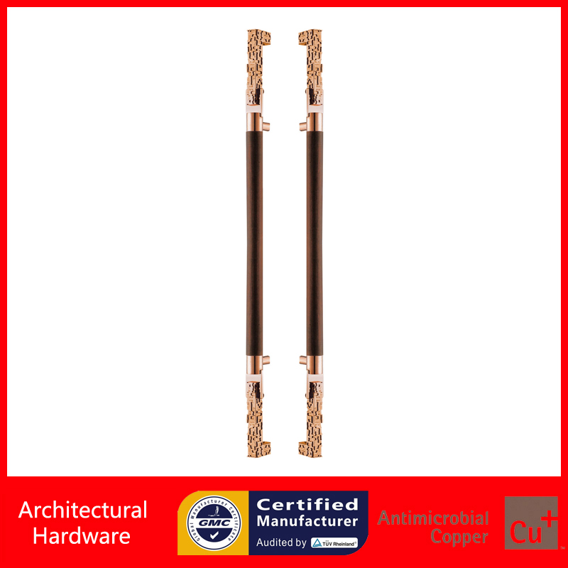 Luxurious Entrance Door Handle Solid Wood+Stainless Steel Pull Handles PA-959-45*1500mm For Wooden/Metal Frame Doors 2000mm length square tube golden entrance door handle stainless steel pull handles for wooden metal glass doors pa 637