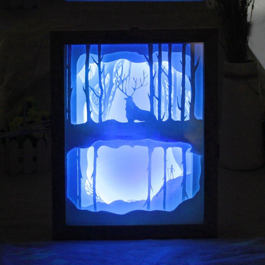 Luce e ombra di arte Del Capretto Del Fumetto luce 3D intagliato lampada da parete Della Novità di Carta di taglio luci LED illuminazione notturna Complementi Arredo Casa IY804017 12 - 3
