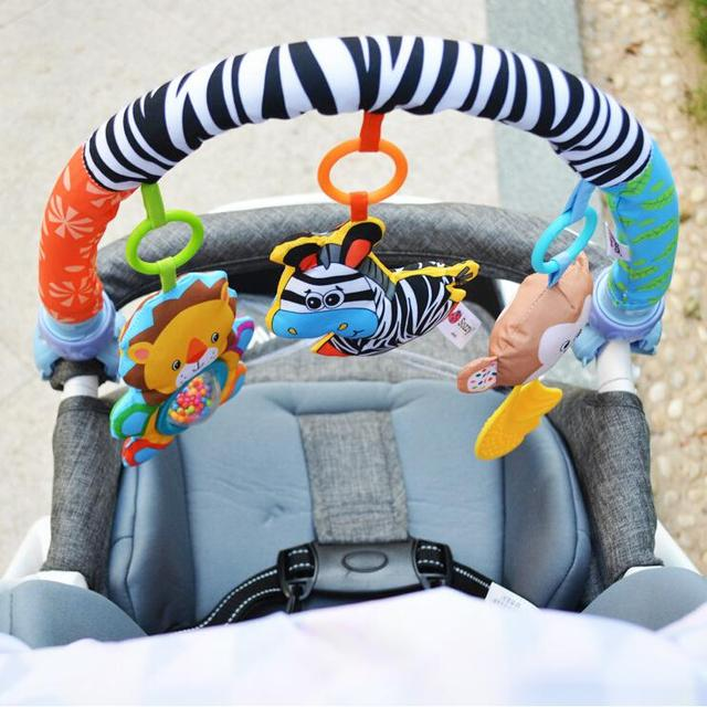 Sozzy Baby Stroller/Bed/Crib Hanging Toys For Tots Cots rattles seat cute plush Stroller Mobile Gifts 88CM Zebra Rattles 20% off 1