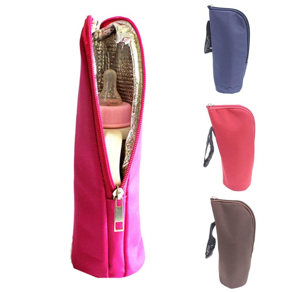 Baby Hanging Nursing Bottle Warmer Insulated Bag Heat Freshness Preserved Feeding Bottle Tote Bag3.1*3.1*9.5 Inch for Mum Use