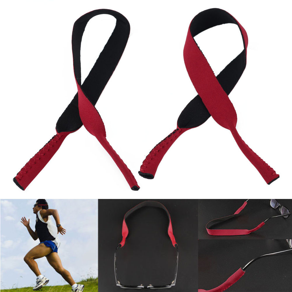 2pcs New Eyewear Spectacle Glasses Sunglasses Anti-Slip Stretchy Outdoor Sports Band Strap Neck Cord Holder String Rope Lanyard
