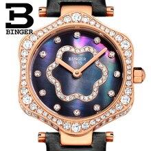 2017 Switzerland BINGER Women Watches Luxury Brand Quartz Waterproof Watch Woman Sapphire Wristwatches relogio feminino B1150-6