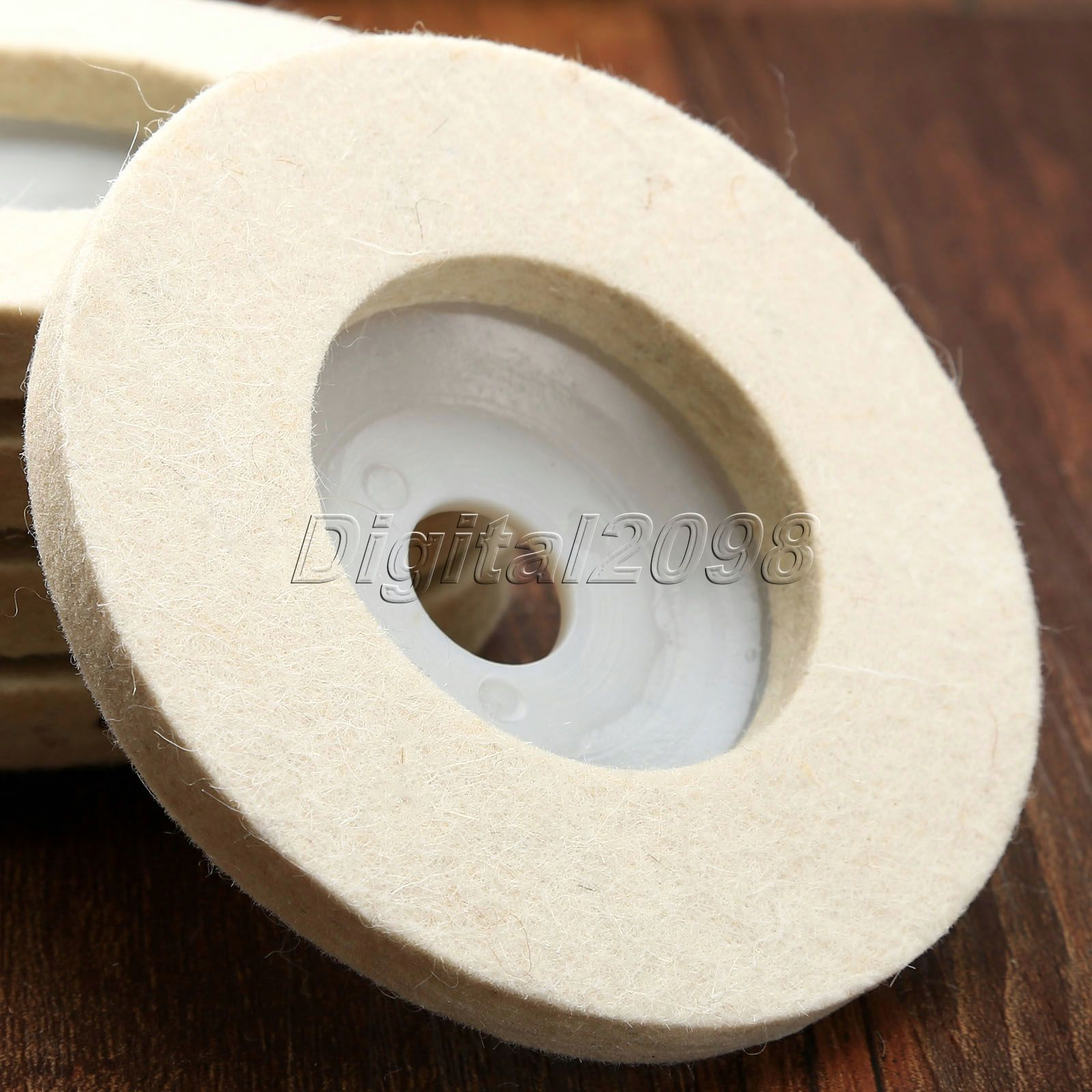 4 inch 100*10mm*16mm Round Polishing Wheel Wool FELT Buffing Polishers Pad NEW Pearl Cloth Wheel Buffing Wheels Abrasive Tool