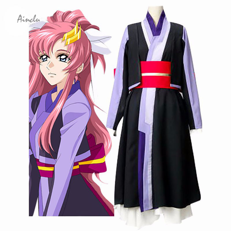 Ainclu Customize for adults Black Purple Red New Mobile Suit Gundam SEED Lacus Clyne Chair Version Cosplay Adult Kid Costumes