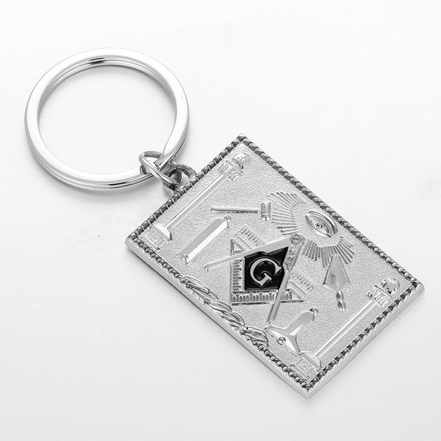 Keychain key ring keyring car motorcycle biker masonic emblem freemason
