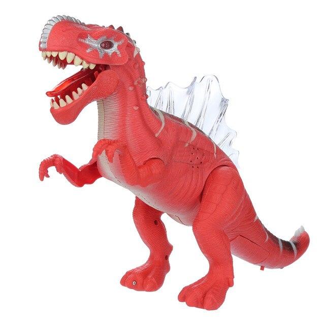 15.7 Modelo de Dinossauro Polegada CONDUZIU a Luz para Cima e Andando Dinossauro com Som Realista Crianças Brinquedo Figura de Ação Brinquedos de Presente para crianças