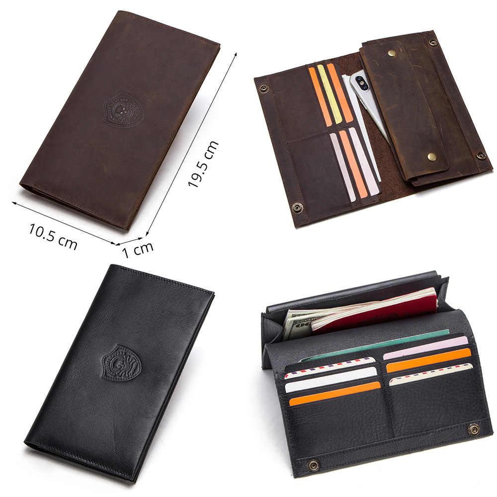 CONTACT'S 2019 новый мужской длинный кошелек тонкий кошелек сцепления мужской телефон сумка для 6,5-дюймовый сотовый телефон с держателями карт высокого качества