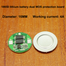 1pcs/lot 18650 lithium battery 3.7V anti-overcharge over-discharge over-current short-circuit charging protection board module battery anti over discharge controller with time delay over protection board low voltage off load and alarm