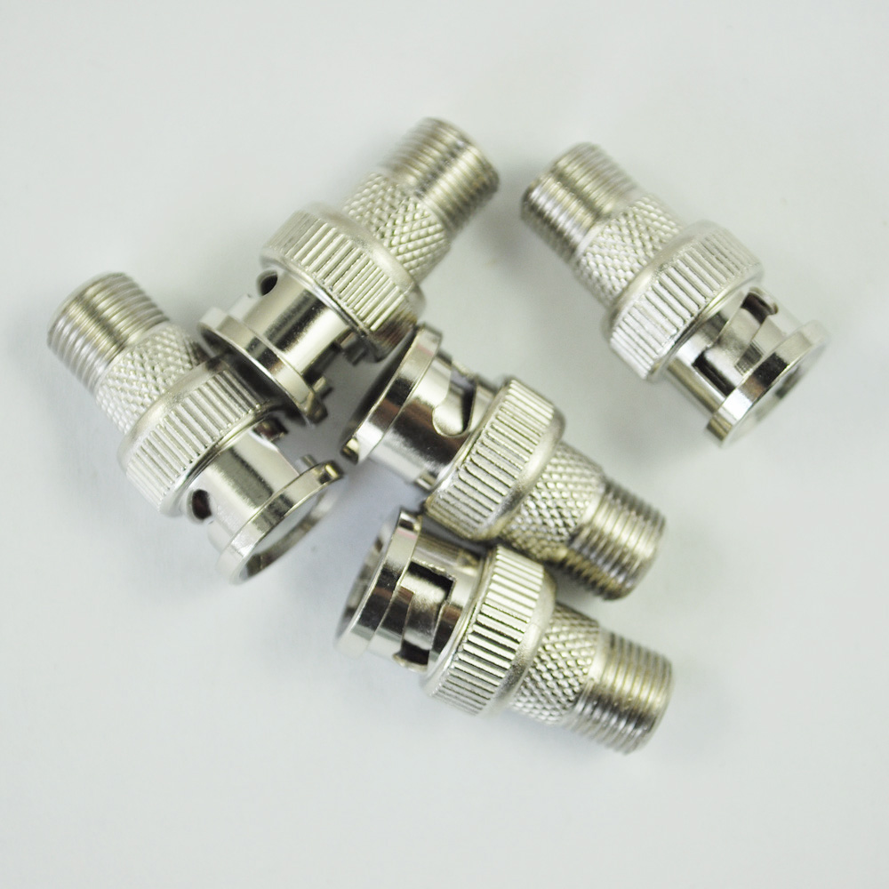 JFBL Hot sale New Plastic Durable F Female to BNC Male Coax RF Connector RG6 RG59 Adapter x 5