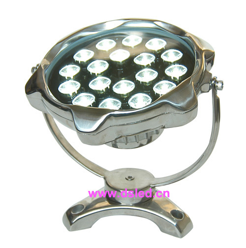 New Design,CE,IP68, High power 18W LED pool light,Outdoor LED spotlight,18X1W, 24V DC,stainless steel.DS-10-67-18W