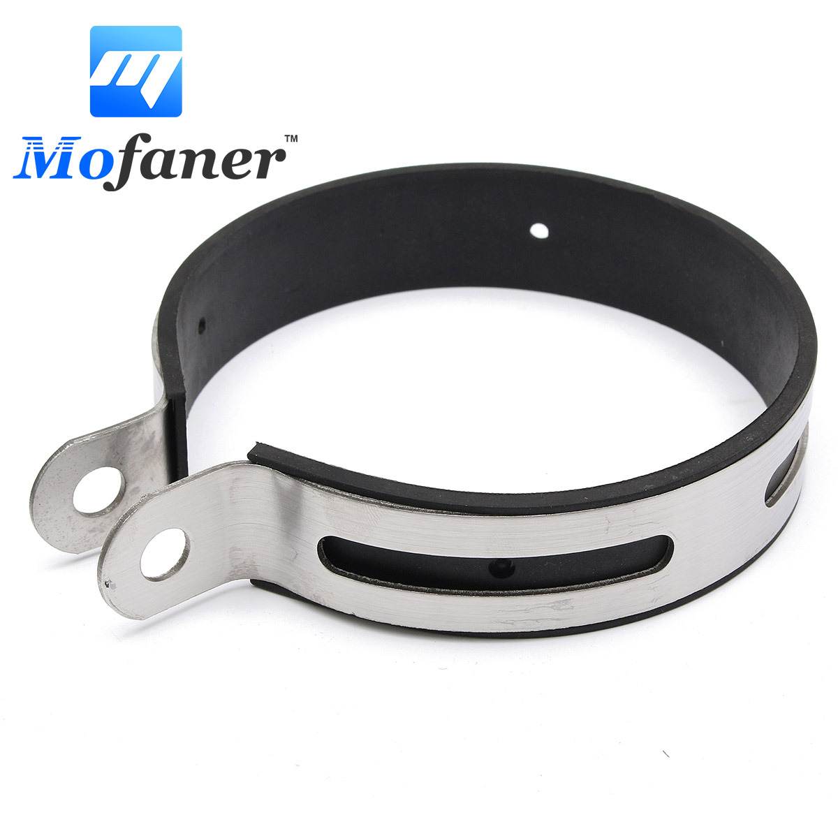11cm Motorcycle Exhaust Muffler Silencer Bracket Hanger Clamp Strap Mount Bracket Stainless Steel