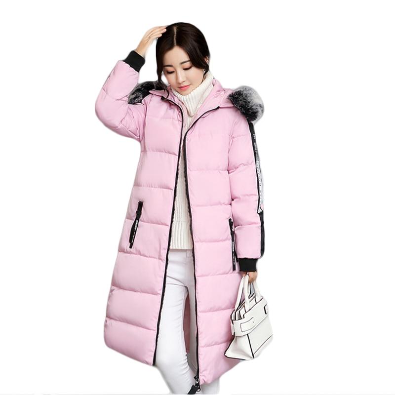 Snow Wear Faux Fur Collar Hooded Parka New Winter Jacket Women Thick Warm Cotton Winter Coat Women Casaco Manteau Femme CM1299