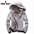 TANGNEST 2017 New Men's Thick Warm Hoodie Overcoat Winter Coat Fleece & Men's Cotton Padded Jacket  6 Colors For Male MWM055