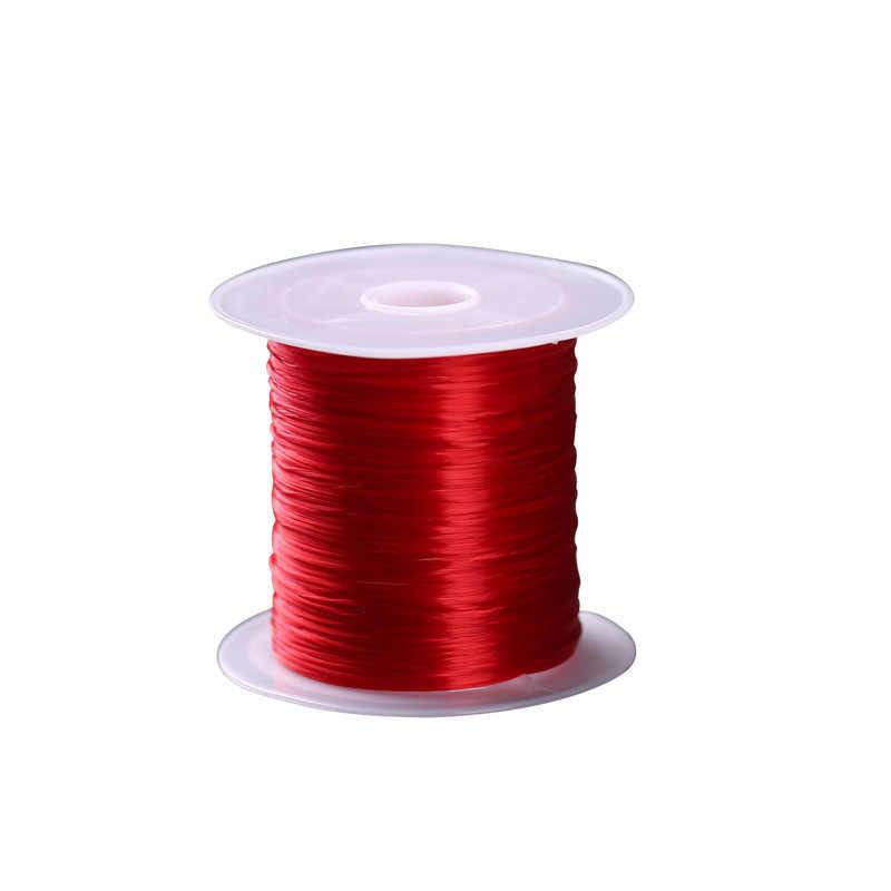 10 m/rollo Multi colores 1mm estiramiento plano elástico cordón cuerda de alambre para regalo envoltura fiesta boda accesorios de decoración