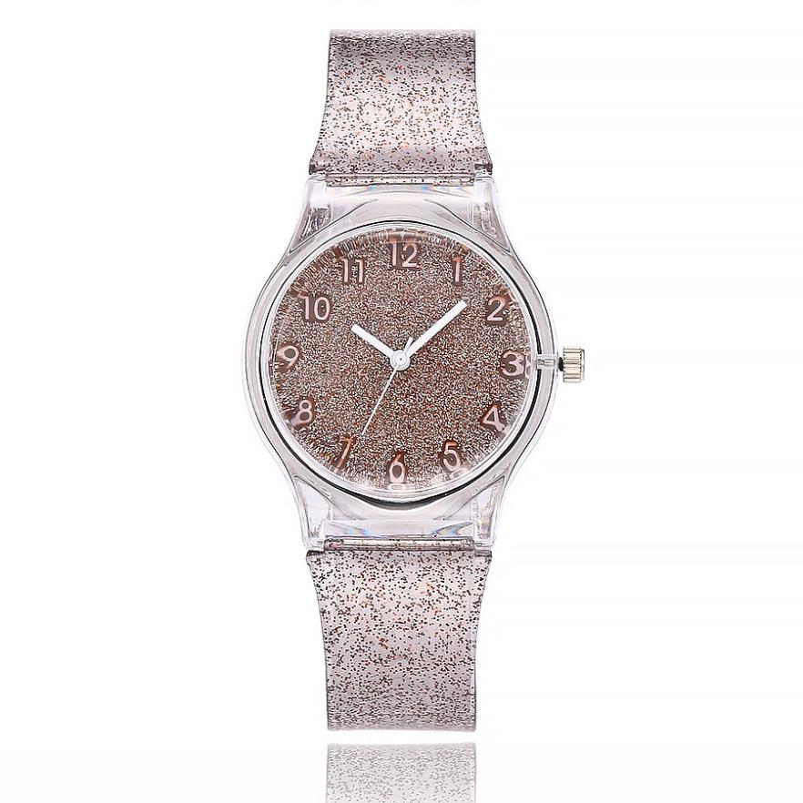 Quartz Silicone Band Fashion Casual Clock Watch Women Watch Plastic Sport Simple Wristwatches Reloj Mujer 18MAR26