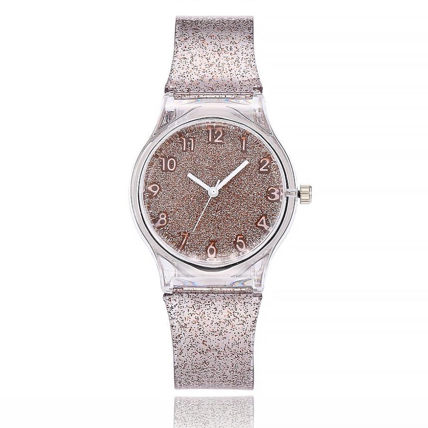 Quartz Silicone Band Fashion Casual Clock Watchs