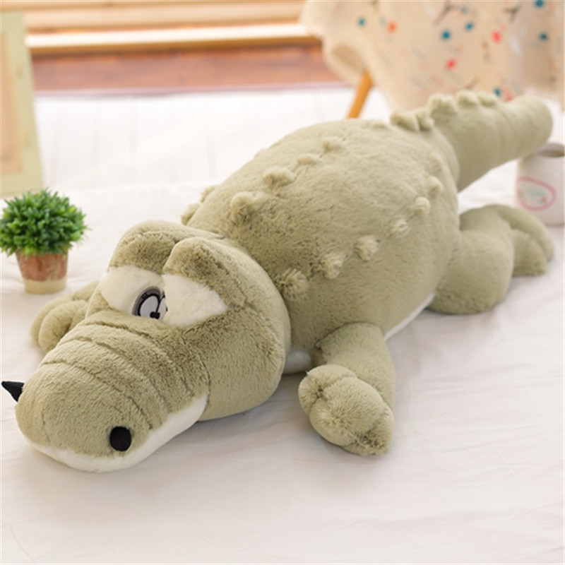 80cm Big Crocodile  2017 New Arrival Soft Stuffed Animals Simulation Plush Toy Cushion Pillow For Girl Birthday Gift C40 stuffed animal 44 cm plush standing cow toy simulation dairy cattle doll great gift w501