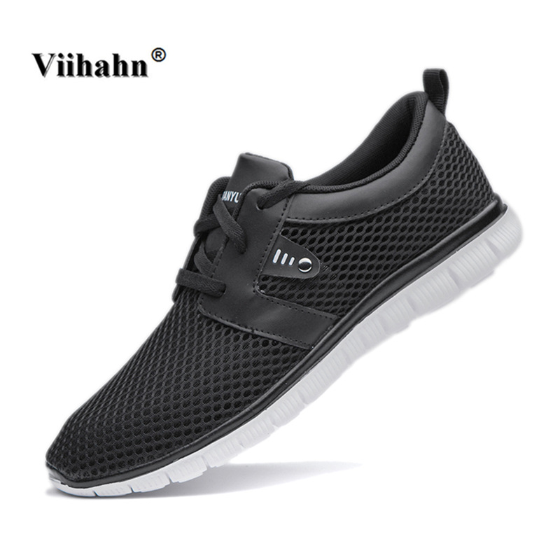 Viihahn Mens Running Shoes Spring Summer Training Sneakers Breathable Mesh Lace Up Outdoor Athletic Sport Shoes Plus Size 47 lace up breathable mesh athletic shoes