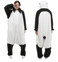 Cartoon Adult Pajamas Fleece Animal Cosplay Costume Unisex Onesie Panda Sleepwear