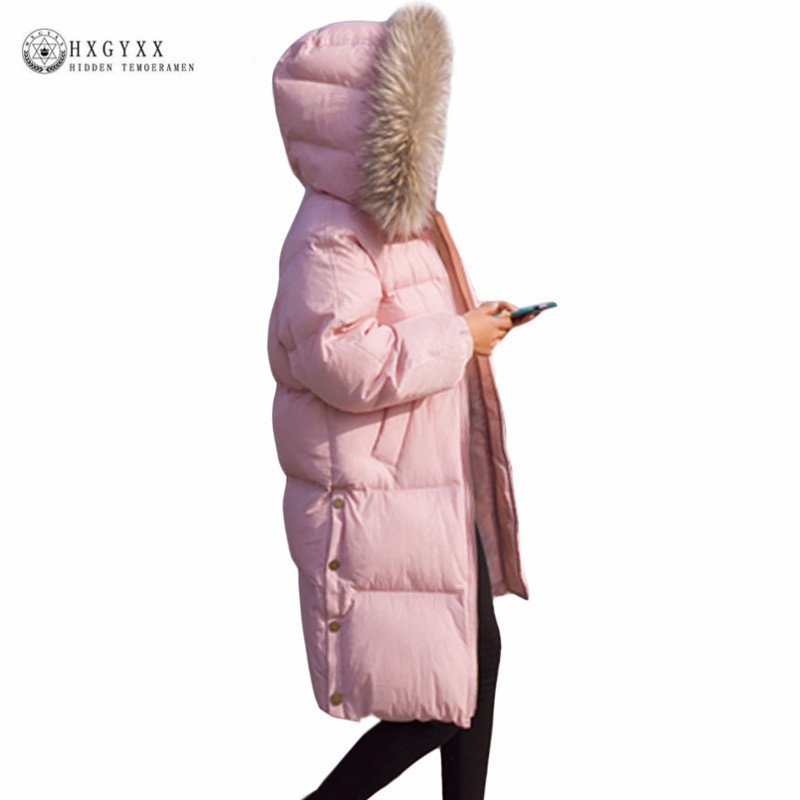 Winter Jacket Women 2017 Fur Collar Hooded Parka Loose Women Cotton-Padded Outerweae Thicken Warm Long Coat Plus Size Okb375 long parka women winter jacket plus size 2017 new down cotton padded coat fur collar hooded solid thicken warm overcoat qw701