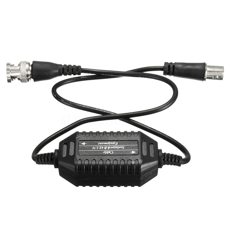 Coaxial Video Ground Loop Isolator Balun BNC Male to Female for CCTV Camera in Transmission Cables from Security Protection