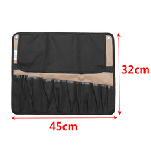 Fashion Coffee Portable Chef Knife Bag Roll Bag Carry Case Bag Kitchen Cooking Tool Portable Storage Bag 10 Pockets Home Garden 4k fashion portable painting board bag carry case drawing easel bag waterproof board carrying sketchpad bag color randoom