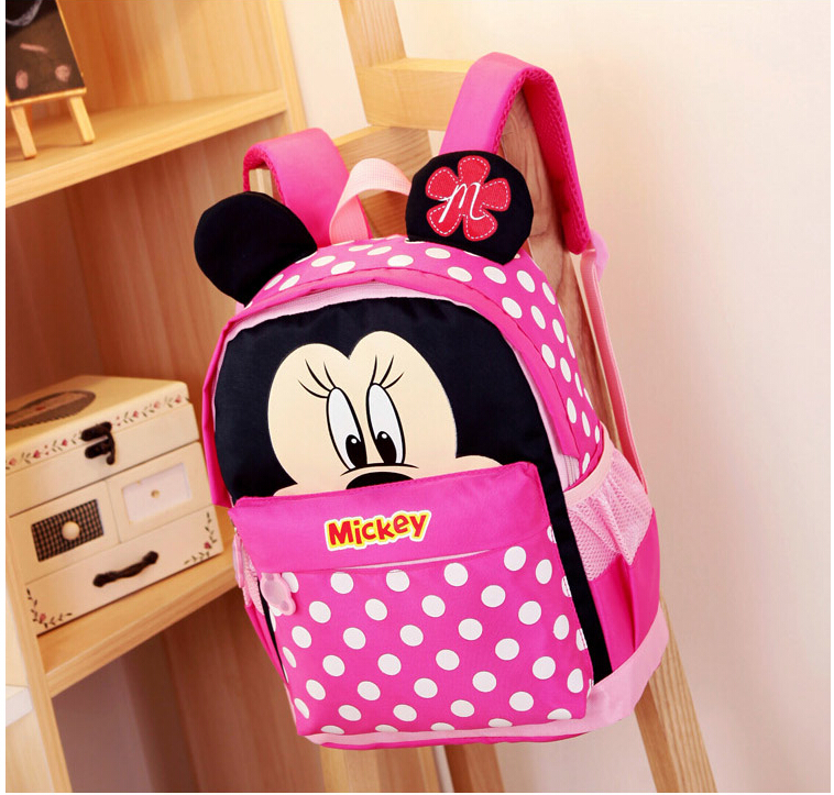 Kid School Bags/Satchel For Boys And Girls Free Shipping Cartoon Mickey Children Backpacks Kids Kindergarten Backpack