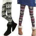 Ladies Retro Knitted Warm Leggings Snowflakes Multi-Colors Winter Pants