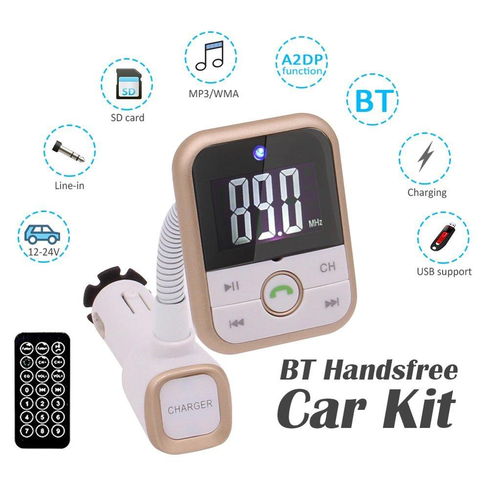 Bluetooth FM Transmitter Wireless Radio Adapter/Car