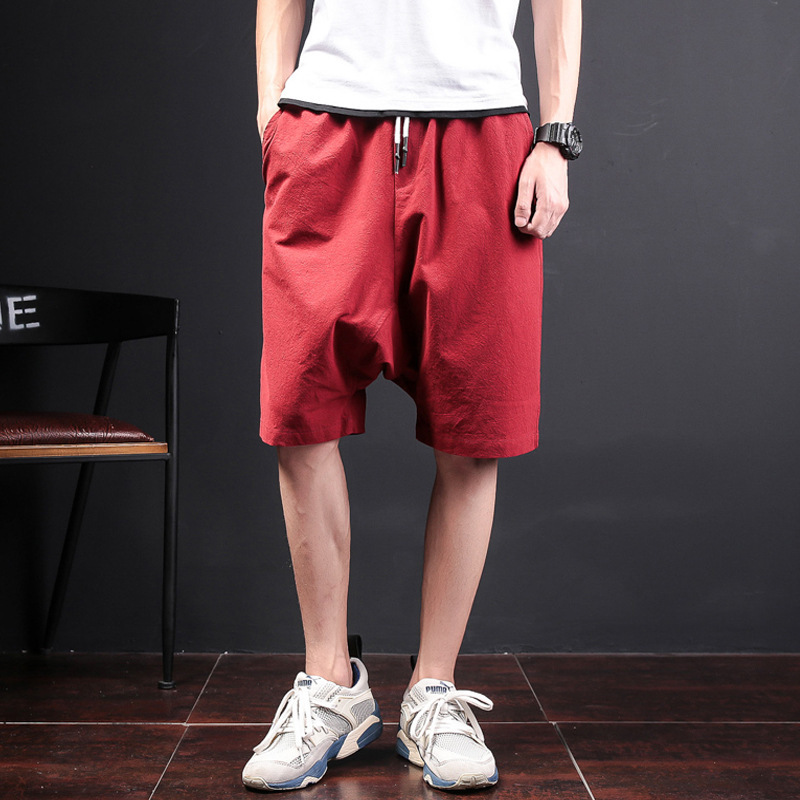 LEDINGSEN 2018 Summer Harem Shorts Men Cotton Khaki Stretch Bermuda Hip Hop Shorts Male Black Fashion Streetwear Plus Size 5XL