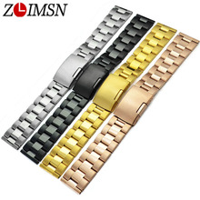 18 19 20 22 24 26 28 30mm Pure Solid Stainless Steel Watch Bands Strap Bracelets