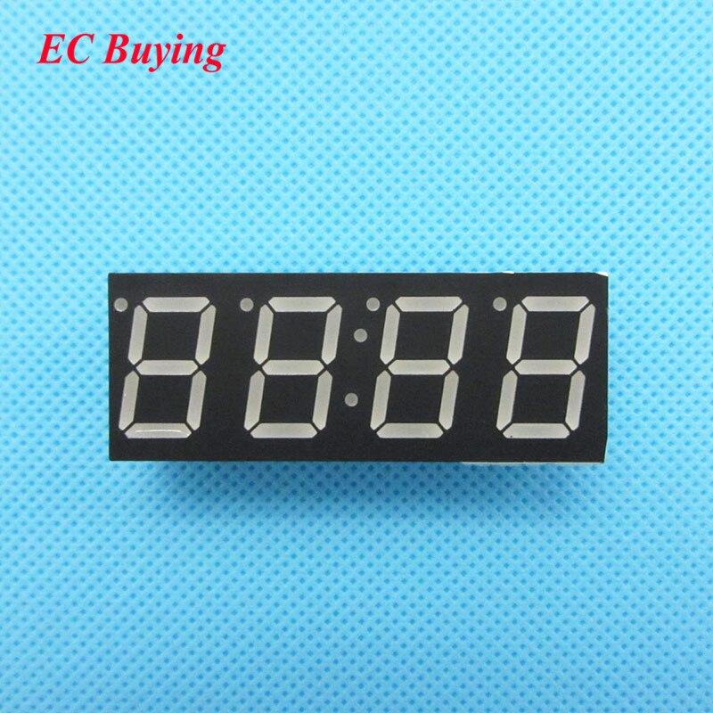 10 шт. 4 бит 4bit Цифровой пробки Общий катод цифровой трубы 0.56 0.56in. Красный светодиод Цифра 7 сегмента (часы)