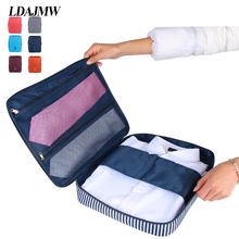 ФОТО   Travel Suitcase Organizer Luggage Storage Bag Shirt Tie Bra Clothes Crease Proof Case Handbag Portable Pouch Organizers
