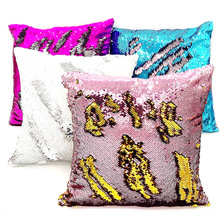Mermaid pillow case Reversible DIY Sequin Cushion Cover Car Home Decor Cushions for Sofa Decorative Capa Almofada Wholesale цены