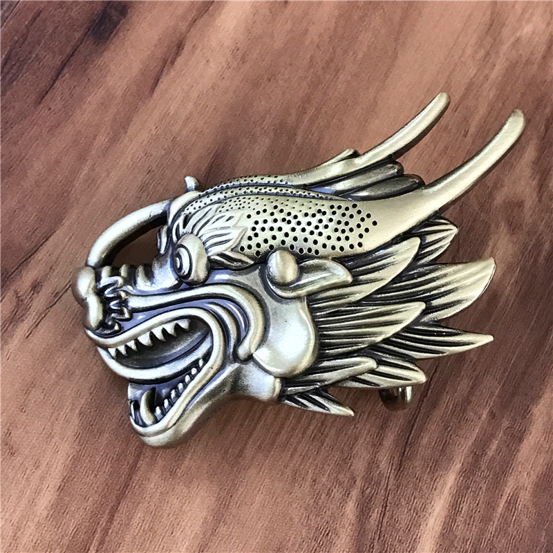 Chinese Dragon Belt Buckle Solid Brass Cowboy Belt Diy Accessories Men Belts Buckles TOP Quality Luxury Jeans Buckle Belt BK0067
