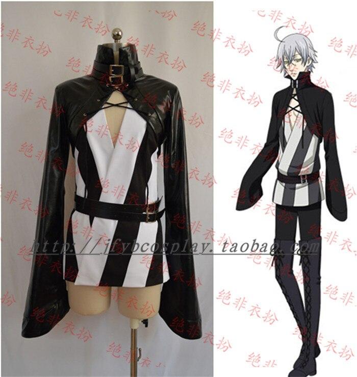 Black Butler Kuroshitsuji Snake Cosplay Costume Unisex full set costumes coat+shirt+pants+belt
