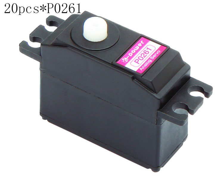 20 pièces k-power P0261 Servo analogique 2 kg JR prise en plastique servo taille Standard servo pour pièce modèle RC