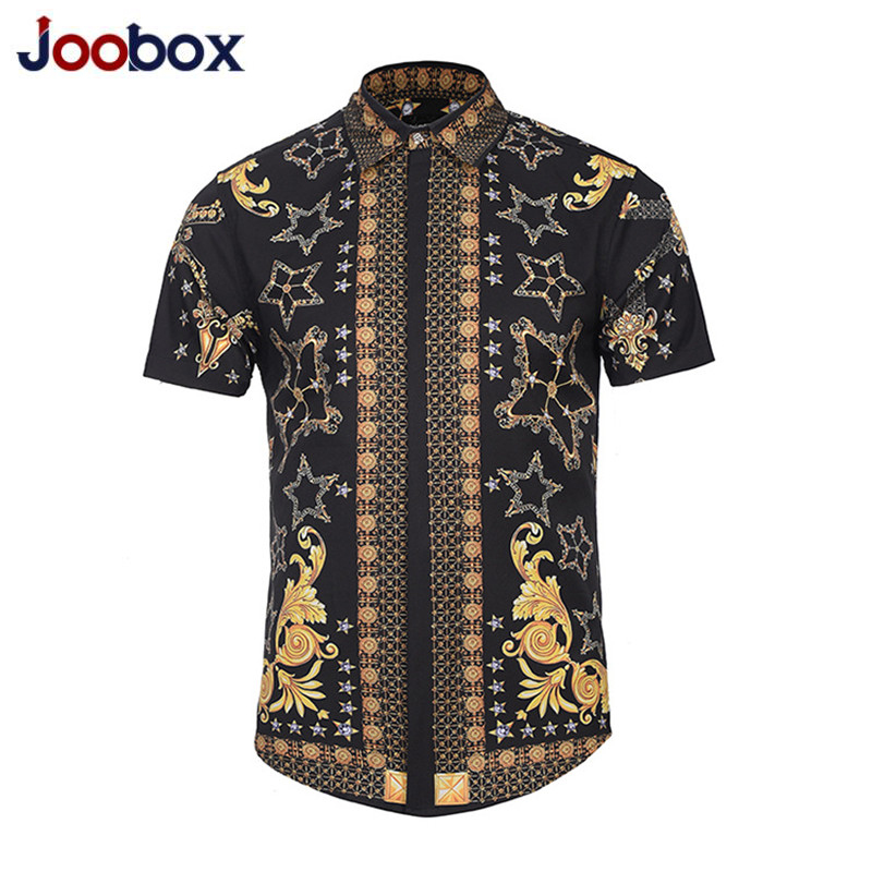 2019 Fashion Summer Men Short Sleeve Floral Dress Shirts Unique Medusa Shirt Fashion 3D Print Luxury Harajuku Men Dress Shirts