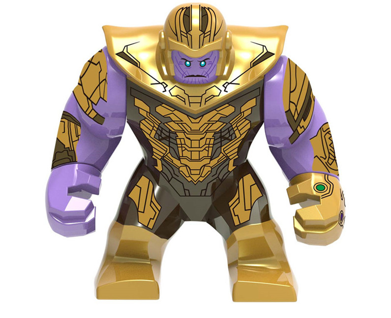 30pcs Marvel Thanos Avengers Endgame Infinity Gauntlet Power Stones Gloves Action Figures Super Heroes Sets Block