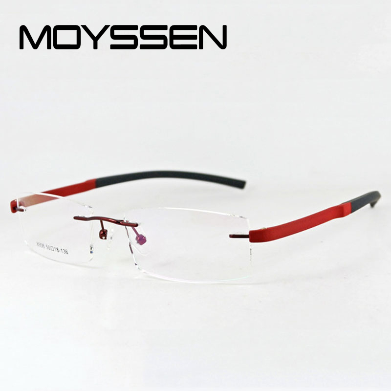 f48cfa8be471 MOYSSEN Fashion Men s Brand Rimless Glasses Frame Women Vintage TR90 Myopia  Optical Eyeglasses Prescrition Eyewear-in Eyewear Frames from Apparel ...