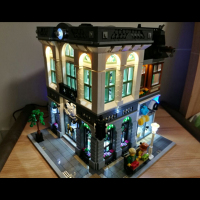 LED Light Up Kit For Brick Bank Building Kit Model Building Kit Toy Compatible With Lego