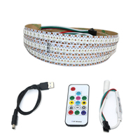 USB Powered 5V WS2812 IC WS2812B RGB LED Strip light 144leds/m 5050 SMD Colour Changing For Background TV PC Back Mood Lighting