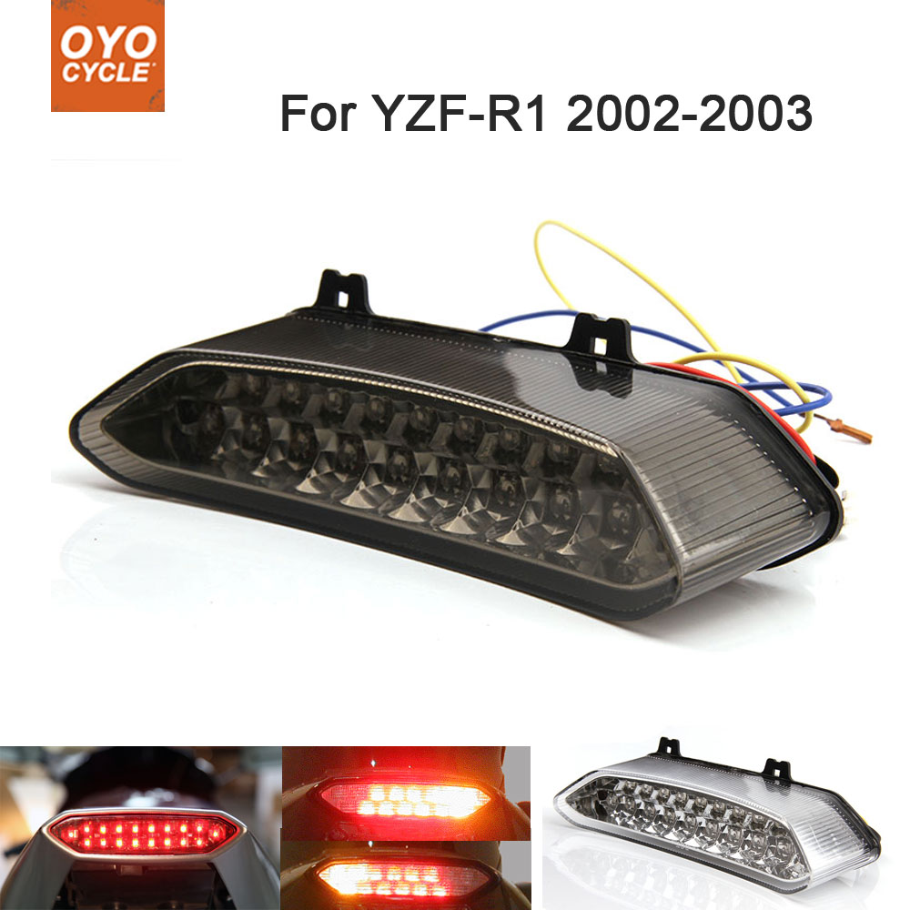Motorcycle Integrated LED Tail Light Brake Turn Signal Blinker For Yamaha YZF R1 YZF-R1 2002 2003
