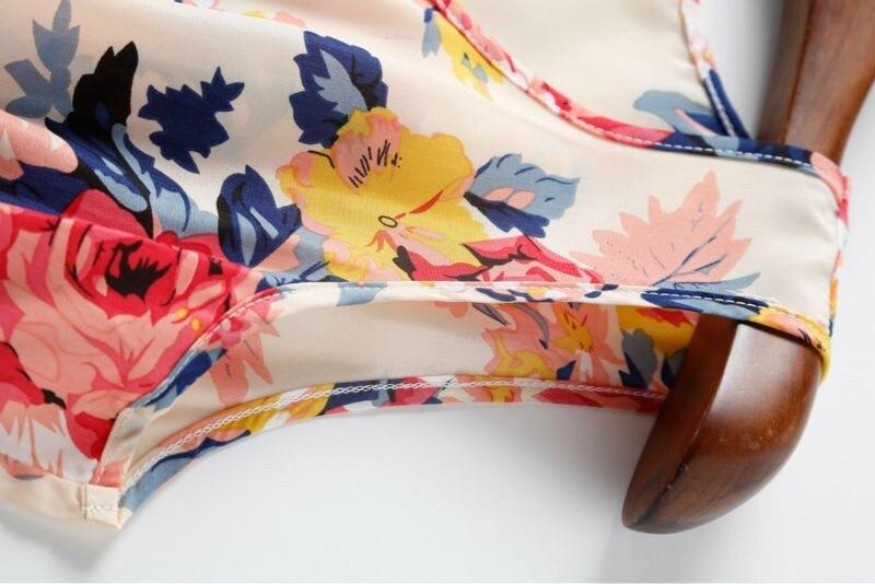 Sexy kobiety chiffon dress sundress plaża floral bez rękawów tank mini sukienki vestido 28