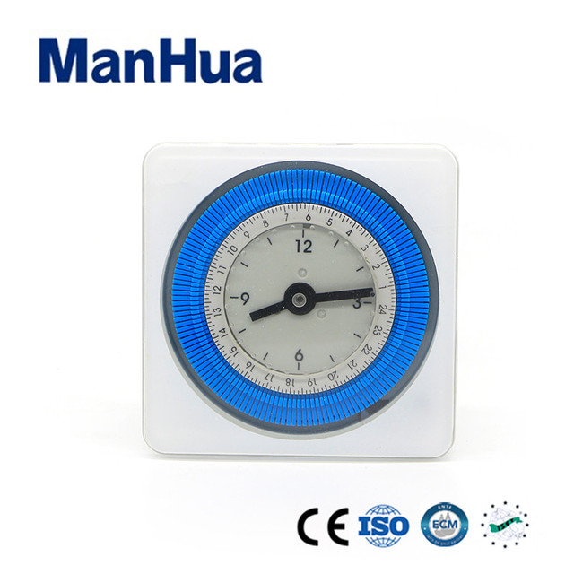 manhua 220vac min 10 minute timer 24h ah711 analogue timer switch with mini electric muntifuncational quartz